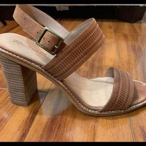 Madewell Size 10 Leather Chunky Heel